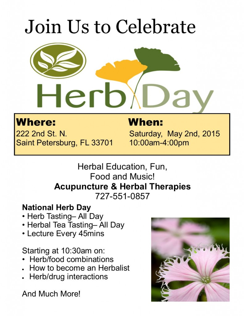 Herb day poster 2015